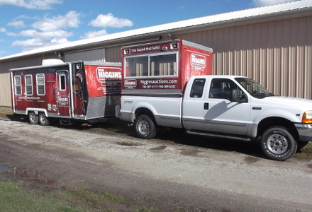 Ben Higgins Auctions truck